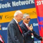 Light hearted moment between General (Ret'd) Tan Sri Mohamed Hashim Bin Mohd Ali and Brigadier-General (Ret'd) Gary Yeo