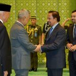 Founding Patron Former Vice President Try Sutrisno sharing a moment with His Majesty, the Sultan of Brunei