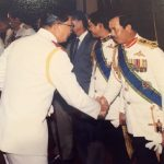 Founding Patron MG (Ret'd) Pehin Dato Haji Mohammad with fellow Founding Patron Former Prime Minister (Ret'd) Chavalit Yongchaiyudh