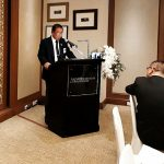 GEN (Ret'd) Mongkon Ampornpisit giving the opening address to the Pinnacle Club and US-China Initative delegation