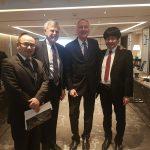 Mr. Shaw Wang (CAIFC), ADM (Ret'd) Bill Owens (EWI), Amb. (Ret'd) Cameron Munter (EWI) and MG (Ret'd) Goh Yong Siang (Secretariat of the Pinnacle Club)