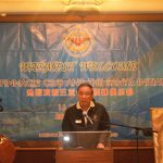 GEN (Ret'd) Mongkon Ampornpisit giving the opening address at the dinner hosted by the Chaturamit Mongkon Elite Group