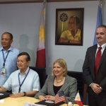 LG (Ret'd) William K. Hotchkiss and the US Trade and Development Agency agrees to launch a specialized training program for ARFF vehicles with the Civil Aviation Authority of the Philippines (CAAP).