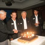 Retired Generals from The Pinnacle Club and The Chaturamit Mongkon Elite Group celebrating their birthday at dinner.